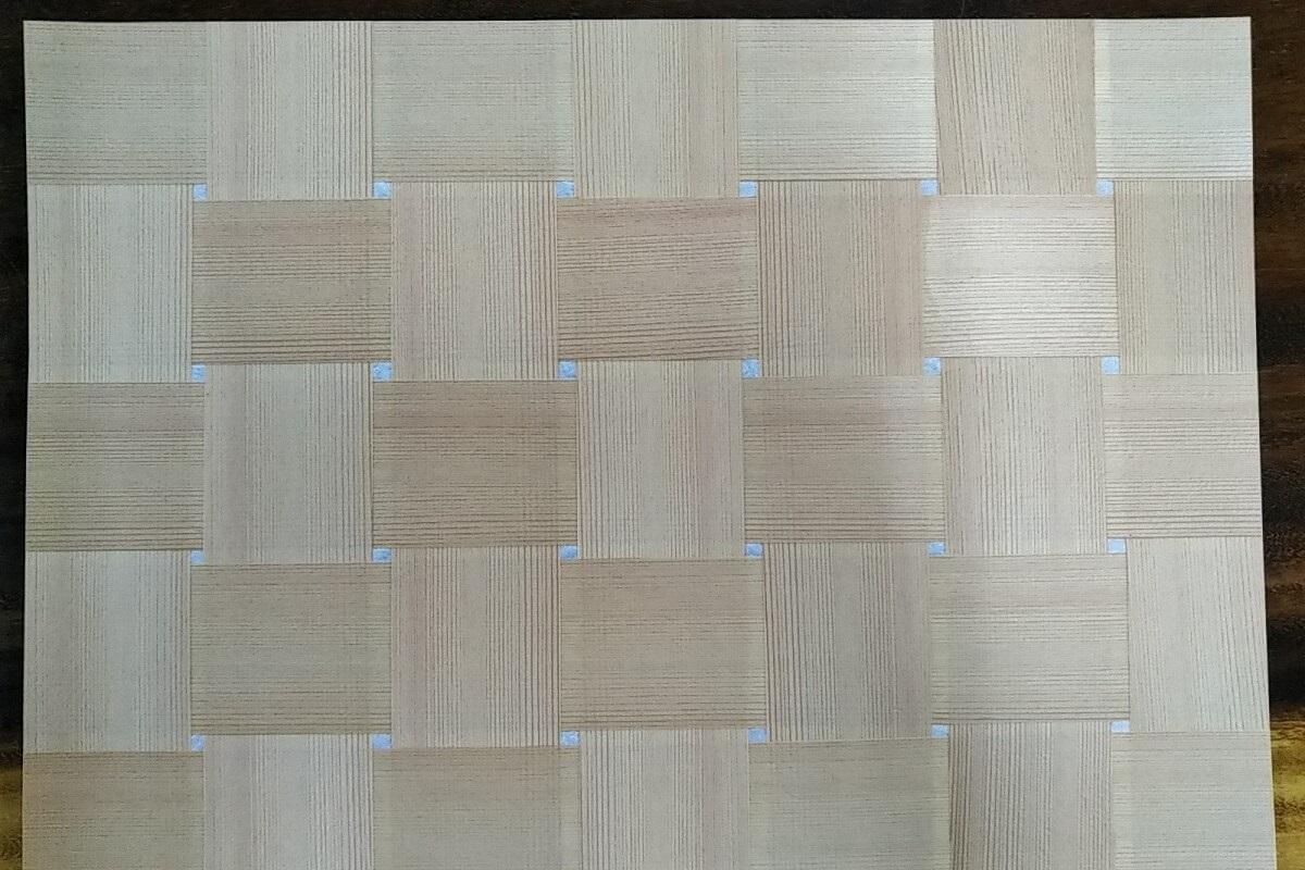 杉柾籠目編み アルマジロ 和紙貼り