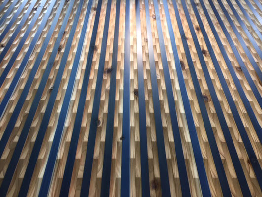 平家彫り 青 施工例