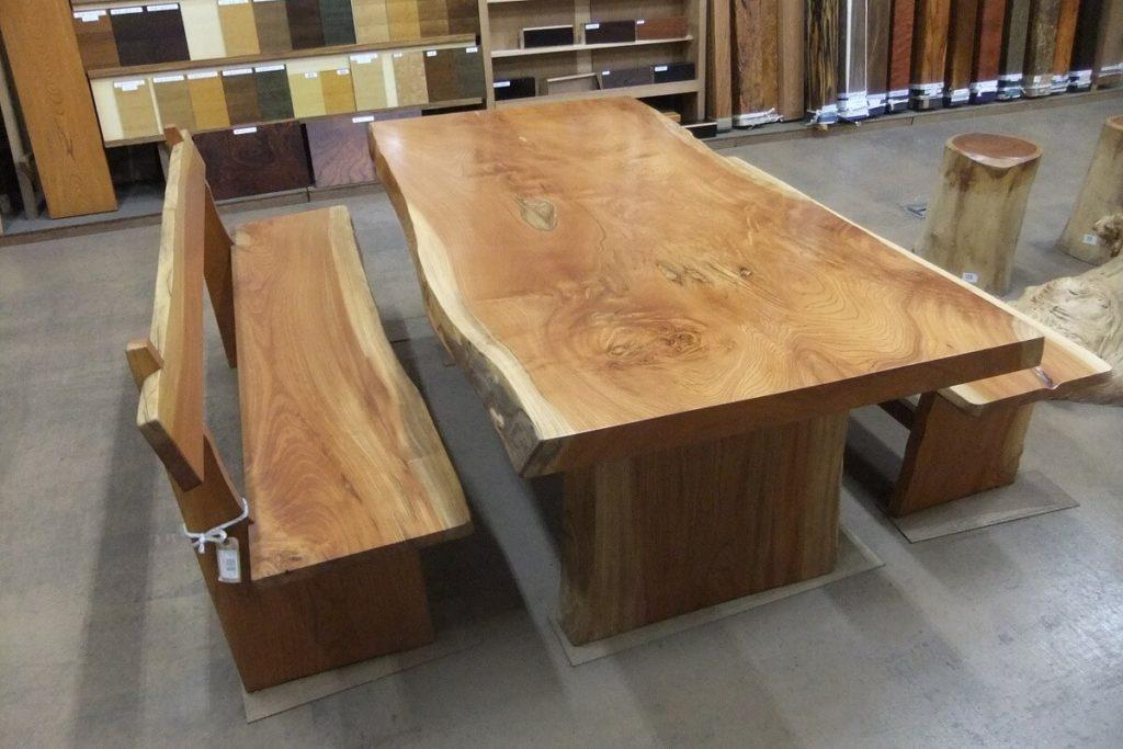 欅一枚板ダイニングテーブルセット