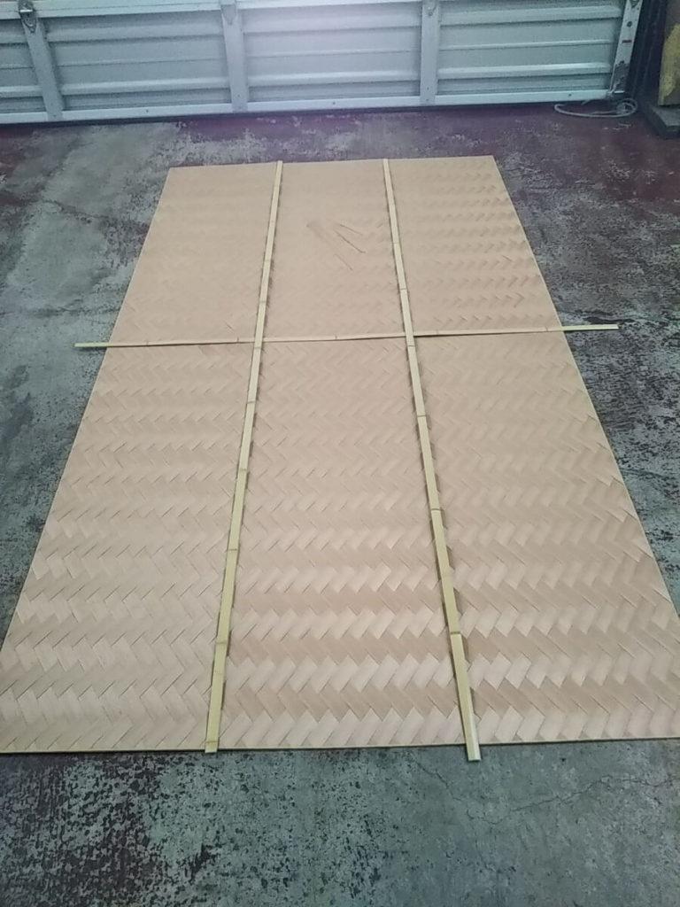 杉柾網代 矢羽根編み